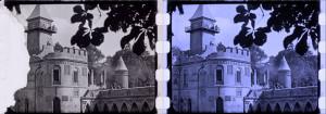 Pan Tadeusz (1928) kadry filmowe przed i po rekonstrukcji - źródło: Filmoteka Narodowa